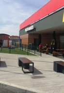 Solar bench in McDonads